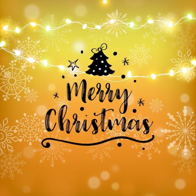 Frohe weihnachten gold glitter schriftzug. weihnachtsgrußkarte, plakat, fahne. Premium Vektoren