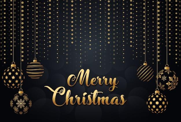 Frohe Weihnachten Gold.Frohe Weihnachten Gold Und Schwarz Weihnachtskugeln Download Der