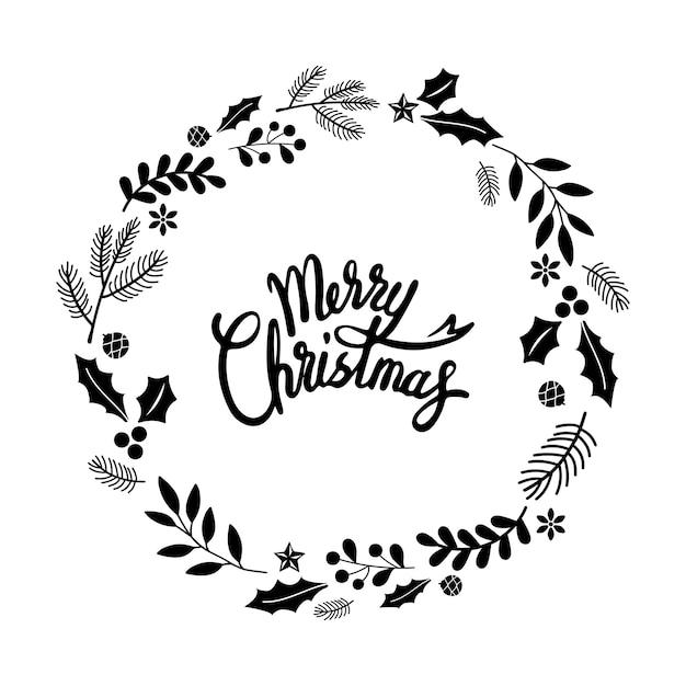 Frohe weihnachten gruß abzeichen Kostenlosen Vektoren