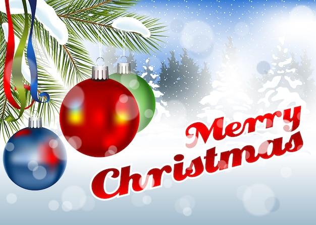 Frohe weihnachten grußkarte hintergrund Premium Vektoren