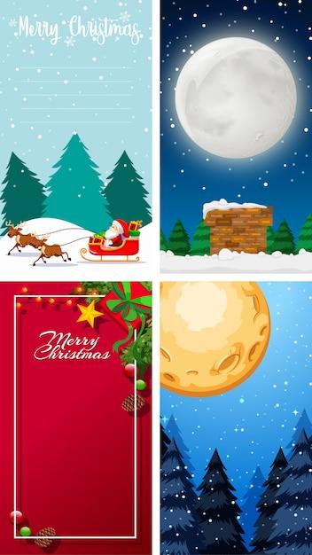 Frohe weihnachten grußkarte oder brief an santa mit textvorlage Kostenlosen Vektoren