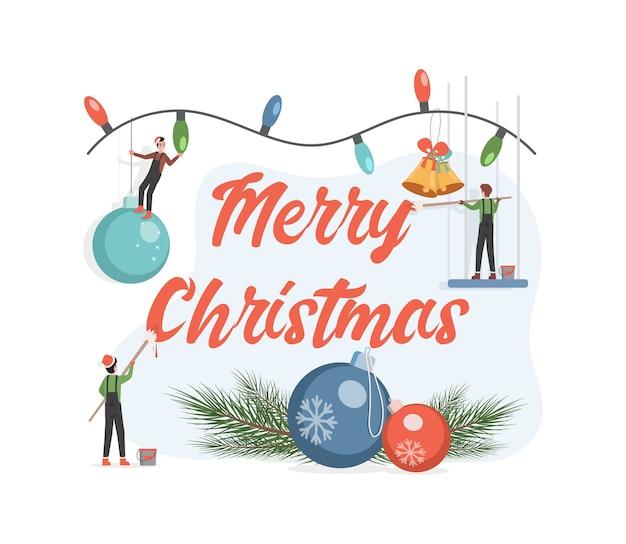 Frohe weihnachten grußkarte Premium Vektoren