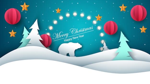 Frohe Weihnachten Guten Rutsch Ins Neue Jahr.Frohe Weihnachten Guten Rutsch Ins Neue Jahr Papierillustration