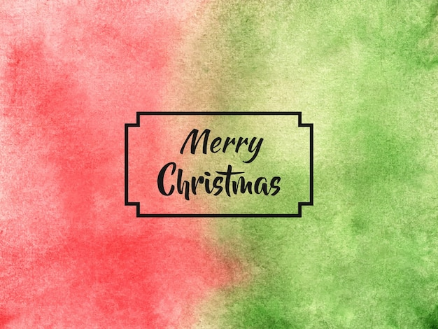 Frohe weihnachten hintergrund im aquarellstil Premium Vektoren