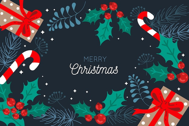 Frohe weihnachten hintergrund konzept Kostenlosen Vektoren