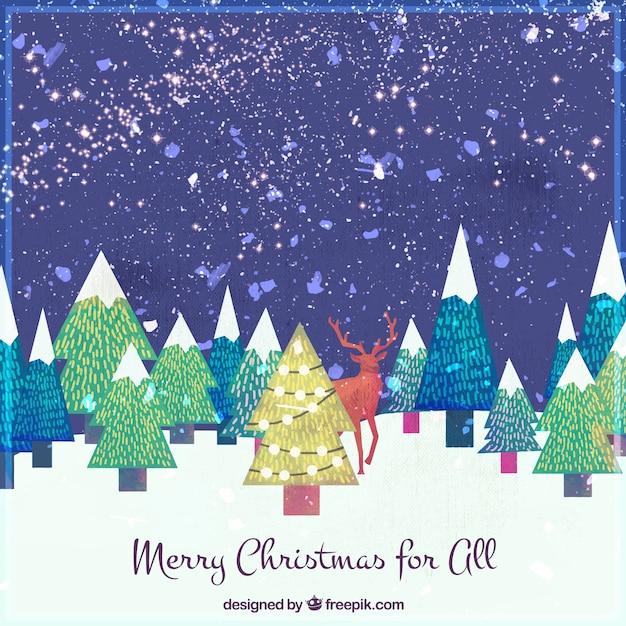 Frohe weihnachten hintergrund mit aquarell ziemlich - Aquarell weihnachten ...