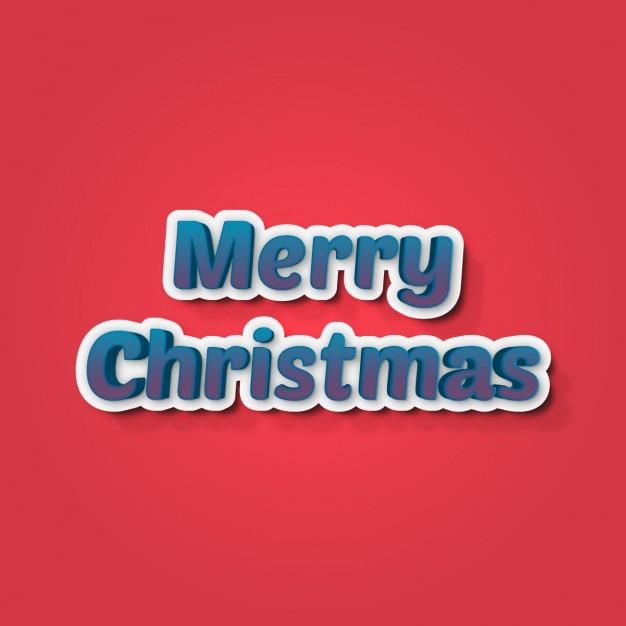 Frohe weihnachten hintergrund mit blauen buchstaben Kostenlosen Vektoren