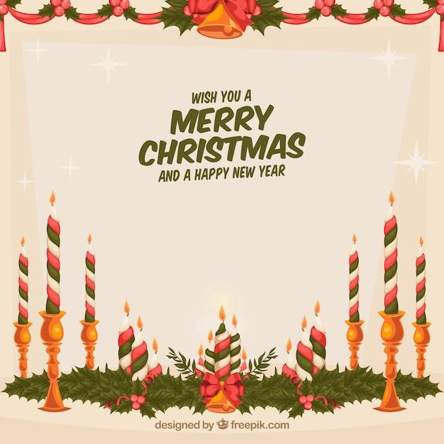 Frohe weihnachten hintergrund mit bunten kerzen download der kostenlosen vektor - Weihnachten hintergrund kostenlos ...