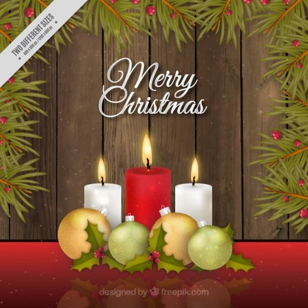 frohe weihnachten hintergrund mit kerzen in realistischen. Black Bedroom Furniture Sets. Home Design Ideas