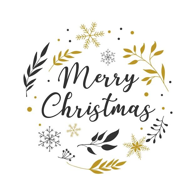 Frohe weihnachten hintergrund mit typografie, schriftzug. minimalistische einfache grußkartenvorlage Premium Vektoren