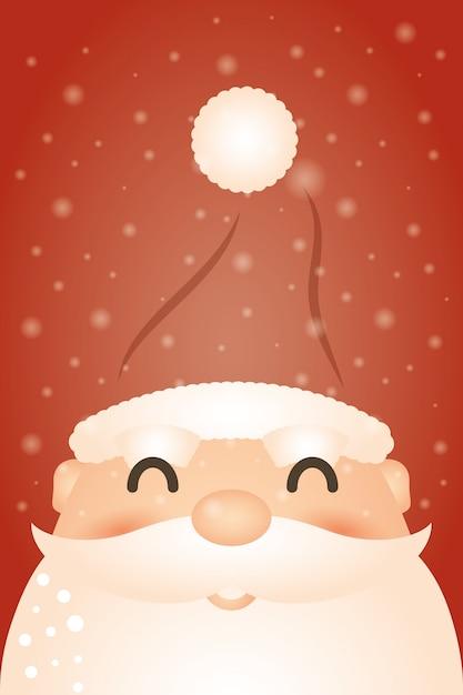 Frohe weihnachten hintergrund mit weihnachtsmann Kostenlosen Vektoren