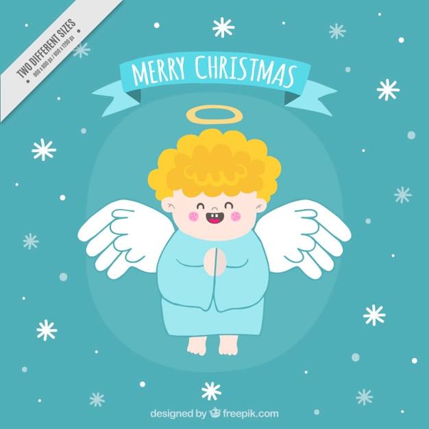 Bild Frohe Weihnachten Lustig.Frohe Weihnachten Hintergrund Von Hand Gezeichnet Lustig Engel