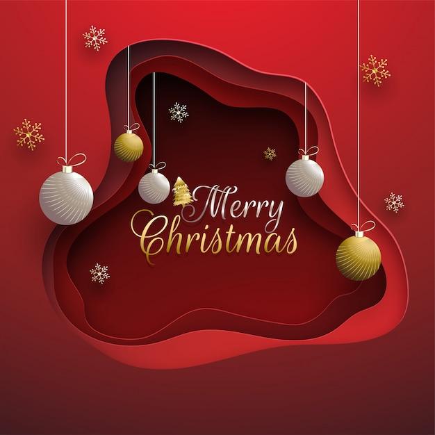 Frohe weihnachten hintergrund. Premium Vektoren
