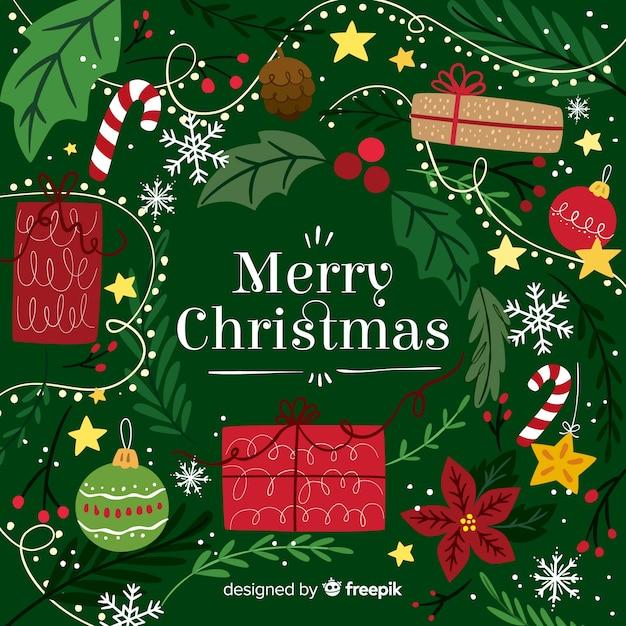 Frohe Weihnachten Download.Frohe Weihnachten Hintergrund Download Der Kostenlosen Vektor