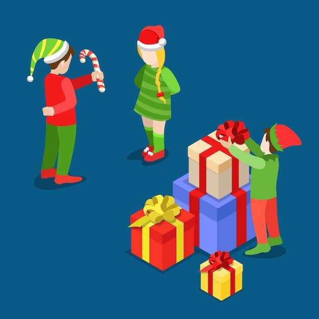 Frohe weihnachten illustration Kostenlosen Vektoren