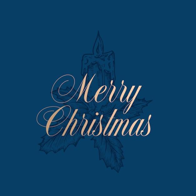 Frohe weihnachten illustration Premium Vektoren