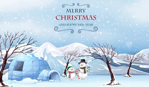 Frohe weihnachten im freien vorlage Premium Vektoren