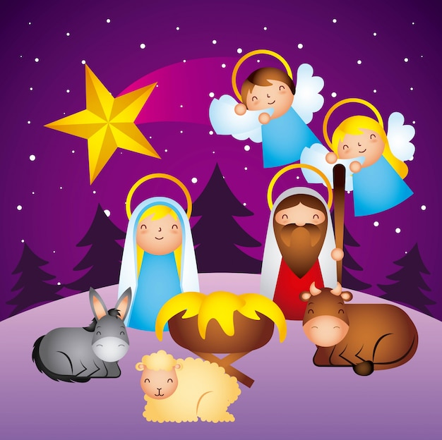 Frohe weihnachten im zusammenhang Premium Vektoren