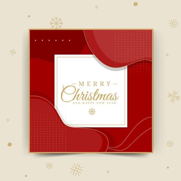 Frohe weihnachten instagram post vorlage Kostenlosen Vektoren