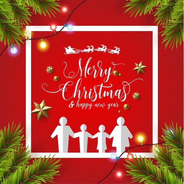 Frohe Weihnachten Rahmen.Frohe Weihnachten Kalligraphie Mit Einem Weißen Hintergrund Rahmen