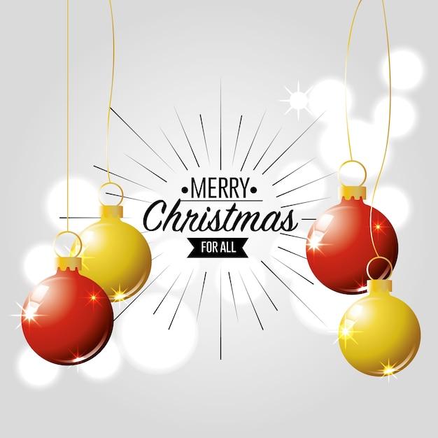 Frohe weihnachten karte dekoration design Premium Vektoren