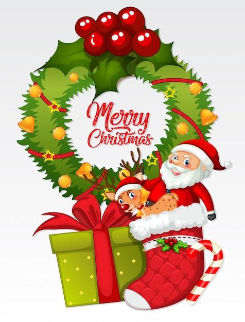 Frohe weihnachten kartenvorlage Kostenlosen Vektoren