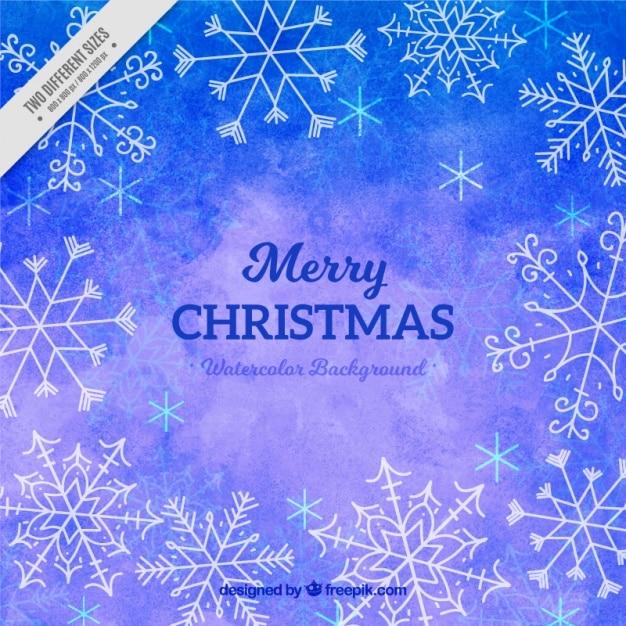 Frohe weihnachten mit aquarell hintergrund download der - Aquarell weihnachten ...