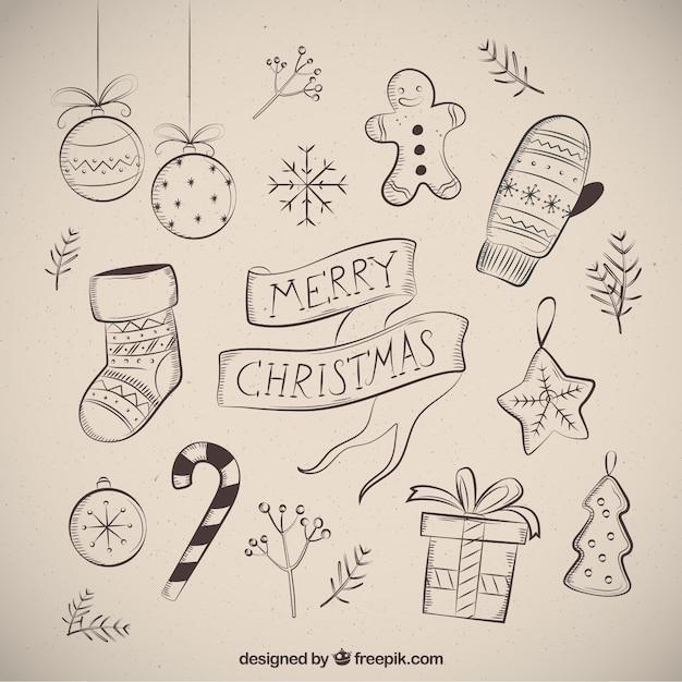 frohe weihnachten mit mehreren zeichnungen download der. Black Bedroom Furniture Sets. Home Design Ideas