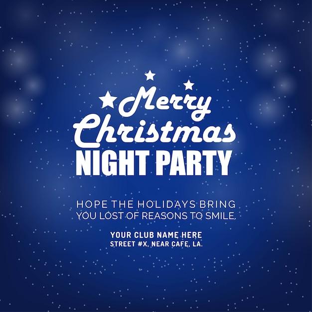 Frohe weihnachten nacht party hintergrund Kostenlosen Vektoren