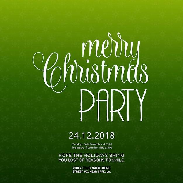 Frohe weihnachten party einladung hintergrund Kostenlosen Vektoren