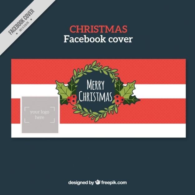 Facebook Frohe Weihnachten.Frohe Weihnachten Rot Facebook Cover Download Der Kostenlosen Vektor