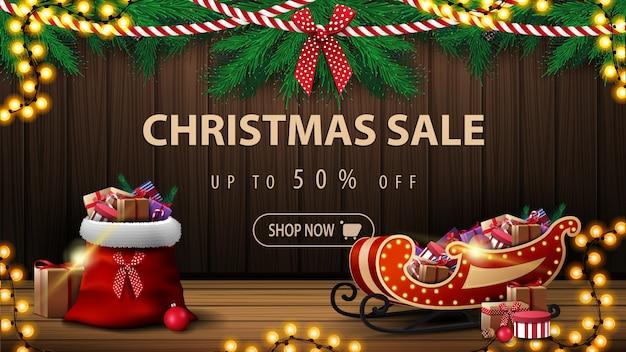 Frohe weihnachten sale banner Premium Vektoren
