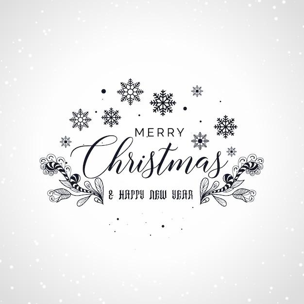 frohe weihnachten schriftzug mit dekorativen design. Black Bedroom Furniture Sets. Home Design Ideas