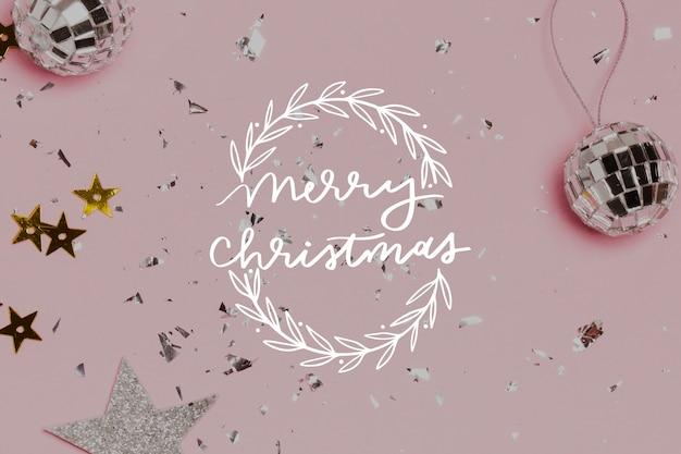 Frohe weihnachten-schriftzug mit foto Kostenlosen Vektoren