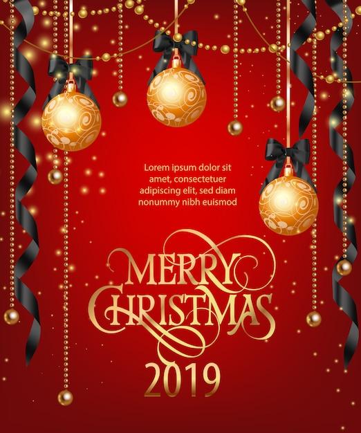 Schriftzug Frohe Weihnachten Beleuchtet.Frohe Weihnachten Schriftzug Mit Kugeln Und Bandern