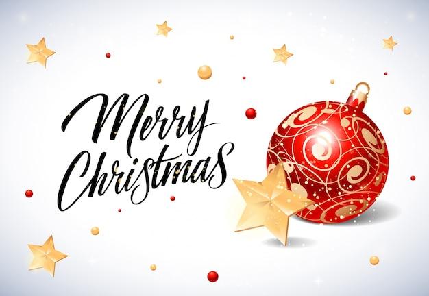 frohe weihnachten schriftzug mit ornamenten download der. Black Bedroom Furniture Sets. Home Design Ideas