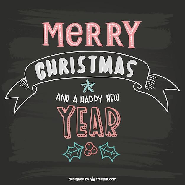 Frohe Weihnachten Schriftzug mit Tafel Textur   Download der kostenlosen Vektor