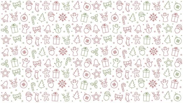 Frohe weihnachten symbol muster elemente isoliert hintergrund Premium Vektoren