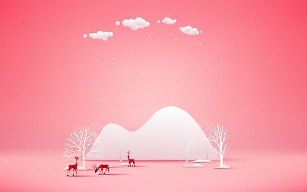 Frohe weihnachten und ein glückliches neues jahr. Premium Vektoren