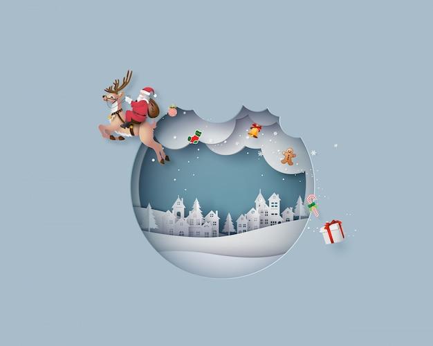 Frohe weihnachten und ein glückliches neues jahr Premium Vektoren