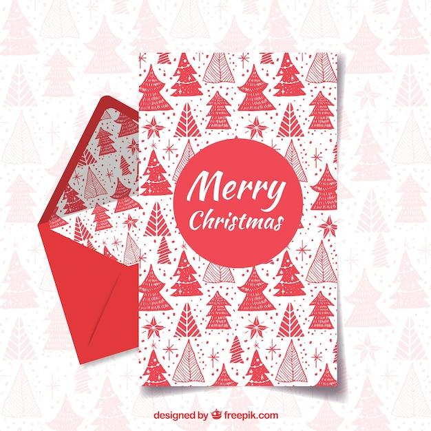 Frohe Weihnachten Und Glücklicher Feiertag Rote Briefvorlage