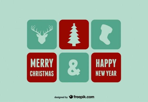 frohe weihnachten und gl ckliches neues jahr symbole und. Black Bedroom Furniture Sets. Home Design Ideas