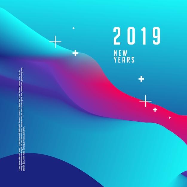 Frohe Weihnachten und guten Rutsch ins Neue Jahr 2019 Plakatvorlage Premium Vektoren