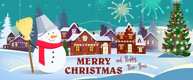 Frohe Weihnachten Einen Guten Rutsch Ins Neue Jahr.Frohe Weihnachten Und Guten Rutsch Ins Neue Jahr Fahnendesign