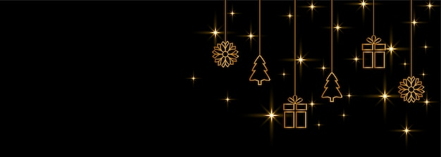 Frohe weihnachten und guten rutsch ins neue jahr-fahnenhintergrund Kostenlosen Vektoren