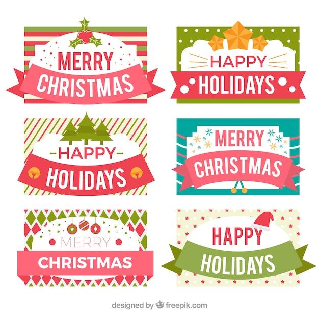 Etiketten Frohe Weihnachten.Frohe Weihnachten Und Happy Holidays Etiketten Download Der