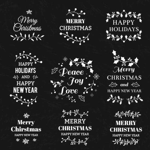Frohe Weihnachten und Happy New Year kalligraphische und ...