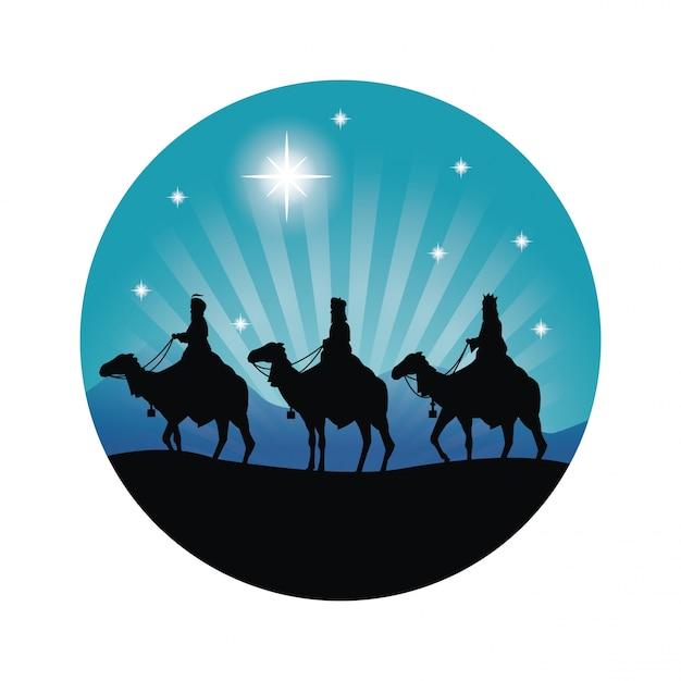 Frohe Weihnachten Männer Bilder.Frohe Weihnachten Und Heiliges Familienkonzept Dargestellt Durch