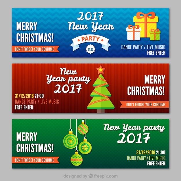 frohe weihnachten und neujahr banner download der. Black Bedroom Furniture Sets. Home Design Ideas