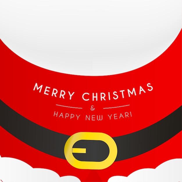 Frohe weihnachten und neujahr karte mit claus Kostenlosen Vektoren